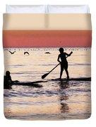 Child Art - Magical Sunset Duvet Cover by Sharon Cummings