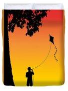 Childhood Dreams 1 The Kite Duvet Cover by John Edwards
