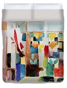 Children At The Greengrocers I Duvet Cover by Franz Marc