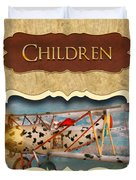 Children Button Duvet Cover by Mike Savad