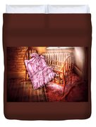 Children - It's A Girl Duvet Cover by Mike Savad