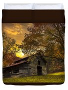 Chill Of An Early Fall Duvet Cover by Debra and Dave Vanderlaan