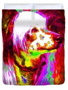Chinese Crested Dog 20130125v2 Duvet Cover by Wingsdomain Art and Photography