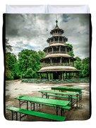 Chinesischer Turm I Duvet Cover by Hannes Cmarits