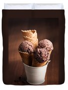 Chocolate Ice Cream Duvet Cover by Amanda And Christopher Elwell