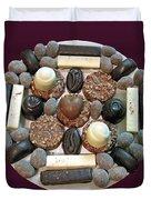 Chocolate Mandala Duvet Cover by Ausra Paulauskaite