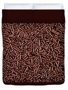 Chocolate Vermicelli Background Duvet Cover by Johan Swanepoel