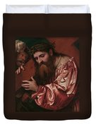 Christ Carrying The Cross Duvet Cover by Girolamo Romanino