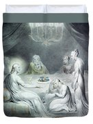 Christ In The House Of Martha And Mary Or The Penitent Magdalene Duvet Cover by William Blake
