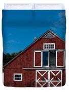 Christmas Barn Duvet Cover by Edward Fielding