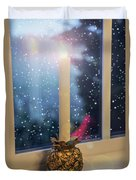 Christmas Candle Duvet Cover by Brian Wallace