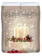 Christmas Candles Duvet Cover by Amanda And Christopher Elwell