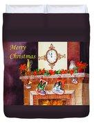 Christmas Card Duvet Cover by Irina Sztukowski