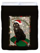 Christmas Cat Duvet Cover by Adam Romanowicz