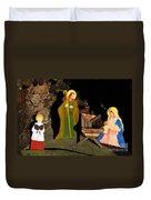 Christmas Crib Scene Duvet Cover by Gaspar Avila