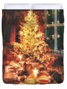 Christmas Eve Duvet Cover by Mo T