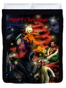 Christmas Greeting Card II Duvet Cover by Alessandro Della Pietra
