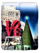 Christmas in Philadelphia Duvet Cover by Bill Cannon