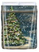 Christmas Night Duvet Cover by Veronica Minozzi