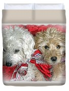 Christmas Puppy Duvet Cover by Bob Hislop