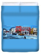 Christmas Shopping In Concord Center Duvet Cover by Rita Brown