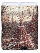 Christmas Tent Duvet Cover by Wim Lanclus