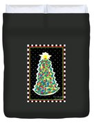 Christmas Tree Polkadots Duvet Cover by Genevieve Esson