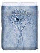 Chrysanthemum Cyanotype Duvet Cover by John Edwards