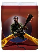 Chuck Berry - This Is How We Do It Duvet Cover by Reggie Duffie