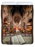 Church Bible Duvet Cover by Adrian Evans