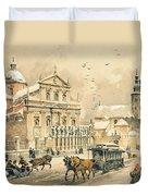 Church Of St Peter And Paul In Krakow Duvet Cover by Stanislawa Kossaka