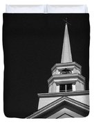 Church Steeple Stowe Vermont Duvet Cover by Edward Fielding