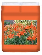 Cincture Of Lilies Duvet Cover by Sonali Gangane