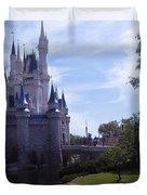 Cinderella Castle Duvet Cover by Roger Wedegis