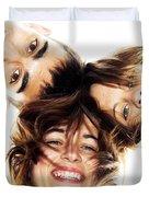 Circle Of Best Friends Duvet Cover by Michal Bednarek