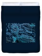 Circuit Board Duvet Cover by Carlos Caetano