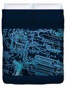 Circuit Board Duvet Cover by Carlos Caetano