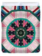 Circular Patchwork Art Duvet Cover by Barbara Griffin