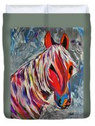 Cisco Abstract Horse  Duvet Cover by Janice Rae Pariza
