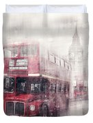 City-Art LONDON Westminster Collage II Duvet Cover by Melanie Viola