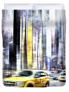 City-art Times Square II Duvet Cover by Melanie Viola