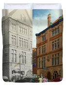 City - Chattanooga TN - 1943 - The Masonic Temple - BOTH Duvet Cover by Mike Savad