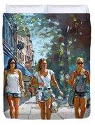 City Girls Duvet Cover by Ylli Haruni
