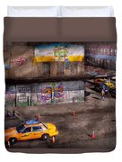 City - New York - Greenwich Village - Life's Color Duvet Cover by Mike Savad