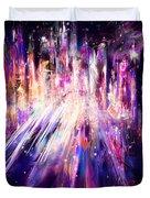 City Nights City Lights Duvet Cover by Rachel Christine Nowicki