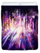 City Nights City Lights Duvet Cover by Rachel Christine Nowicki