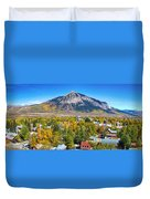City Of Crested Butte Colorado Panorama   Duvet Cover by James BO  Insogna