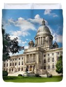 City - Providence Ri - The Capitol Duvet Cover by Mike Savad
