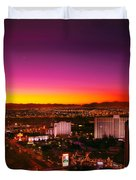 City - Vegas - NY - Sunrise over the city Duvet Cover by Mike Savad