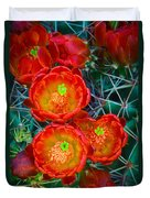 Claret Cup Duvet Cover by Inge Johnsson
